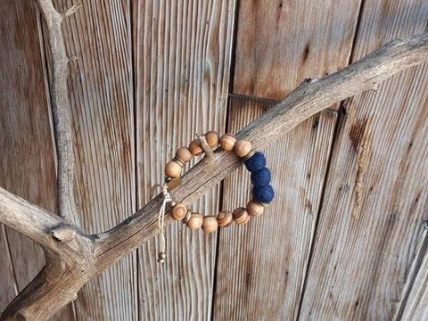 Adult Essential Oil Diffuser Bracelet - Navy