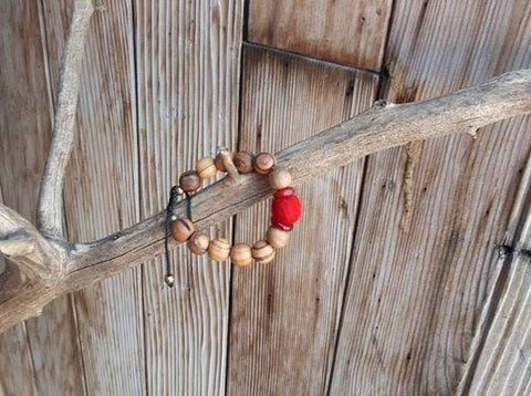 Child Essential Oil Diffuser Bracelet - Red