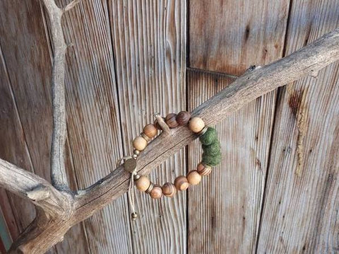 Adult Essential Oil Diffuser Bracelet - Juniper Green