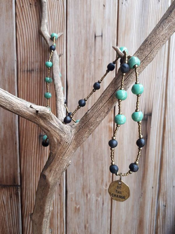 Be The Change Necklace - Spearmint