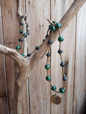 Be The Change Necklace - Forest Green