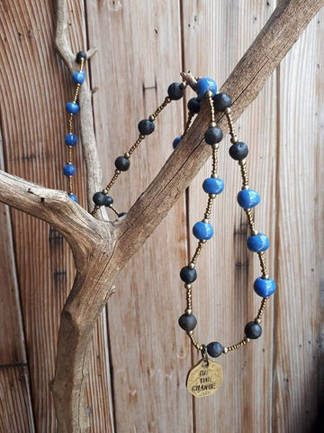 Be The Change Necklace - Blue