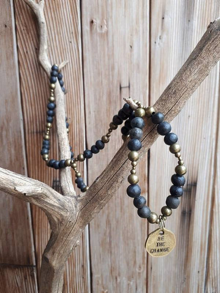 Be The Change Necklace - Black