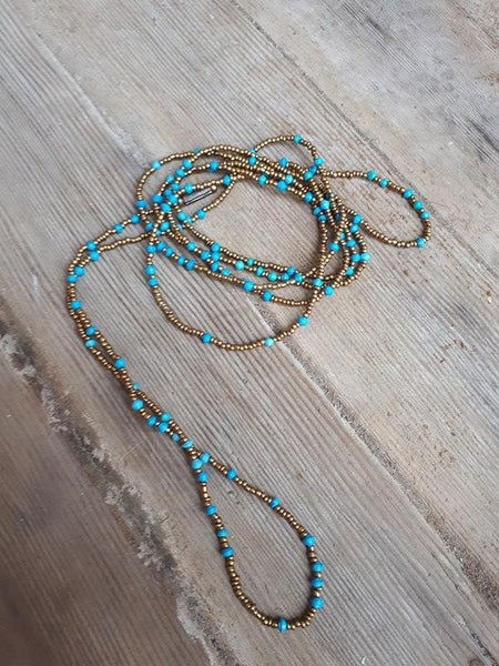 Rosette Necklace - Blue