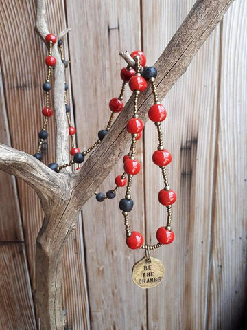 Be The Change Necklace - Red