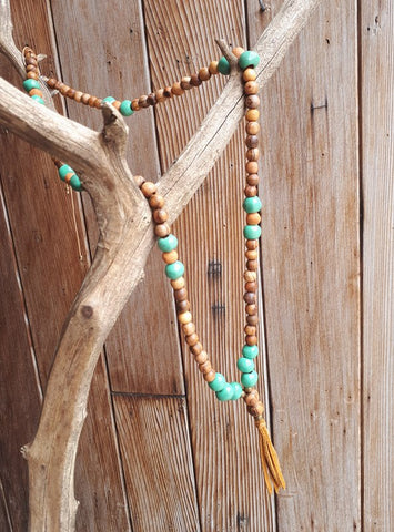 Mint & Wood Diffuser Necklace