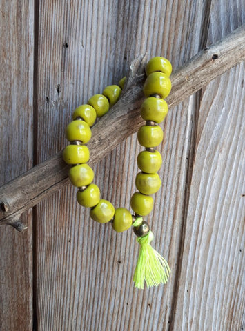 Tassel Bracelet - Yellow