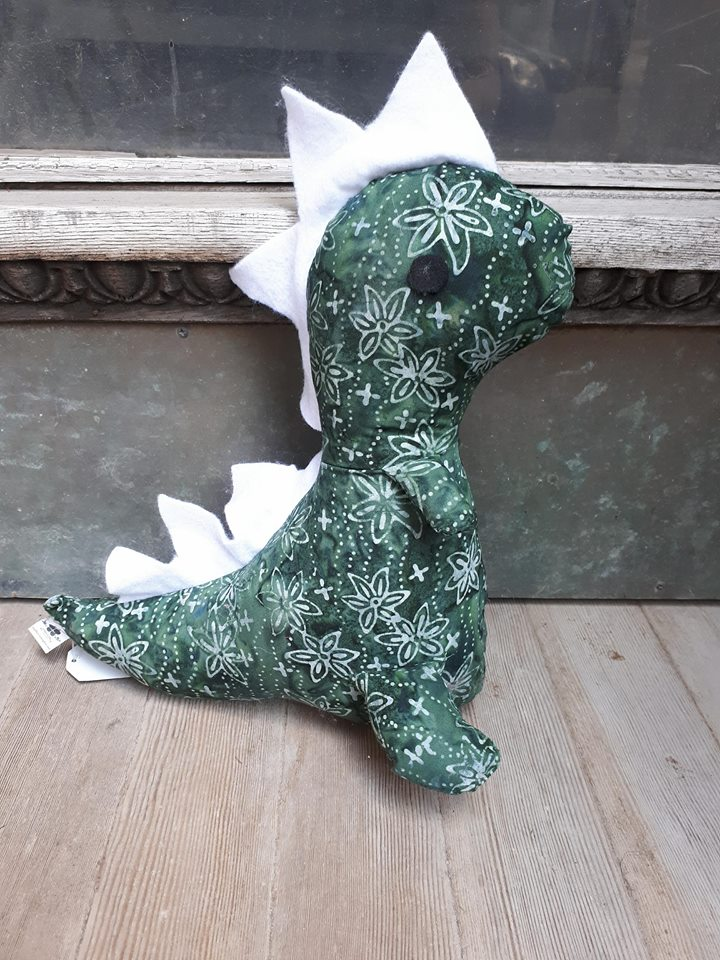 Dinosaur - Dark Green & White