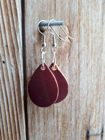 Ceramic Earrings - Burgundy