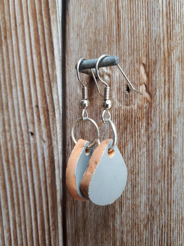 Ceramic Earrings - Gray