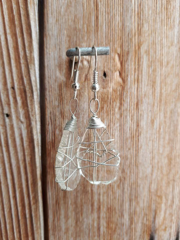 Glass Earrings - Clear