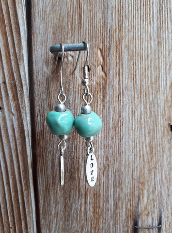 Clay Dangle Earrings - Spearmint