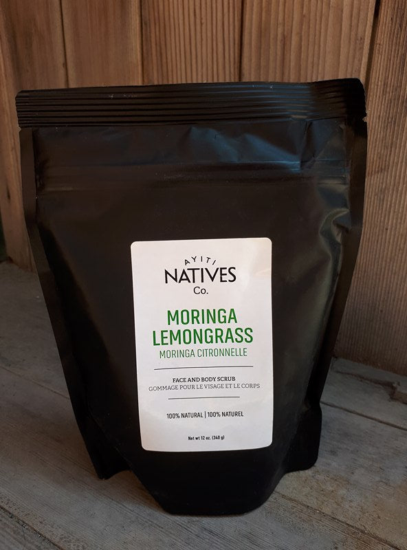 Moringa Lemongrass Face & Body Scrub