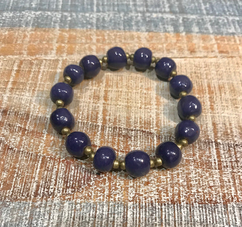Clay Bracelet - Grape
