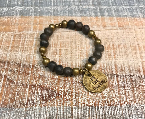 Be The Change Bracelet - Black