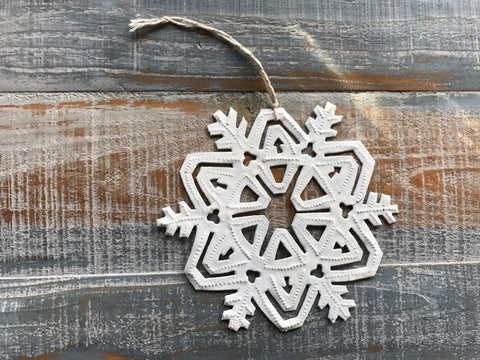Medium Snowflake White
