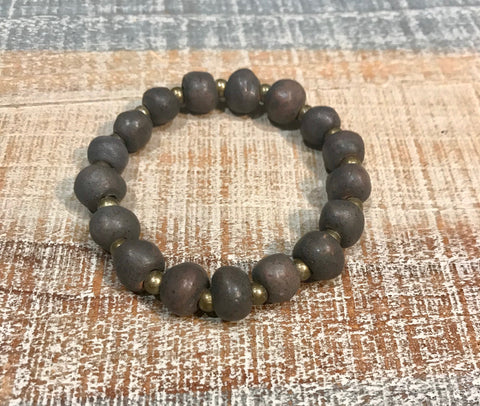 Clay Bracelet - Charcoal