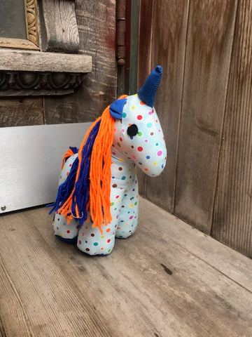 Unicorn - Blue with Dots
