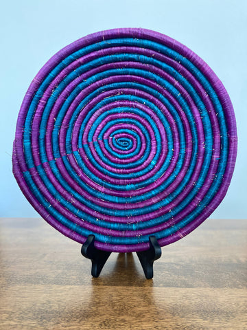 Disk Basket - Purple & Blue Swirl 15""