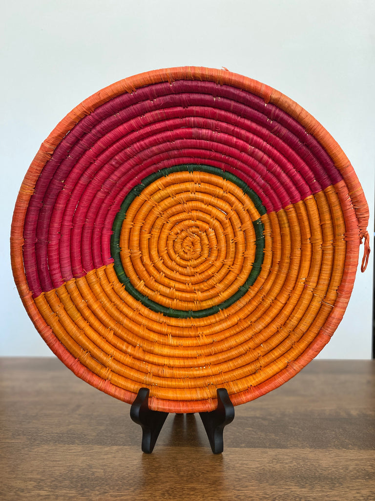 Disk Basket - Pop of Orange 15""
