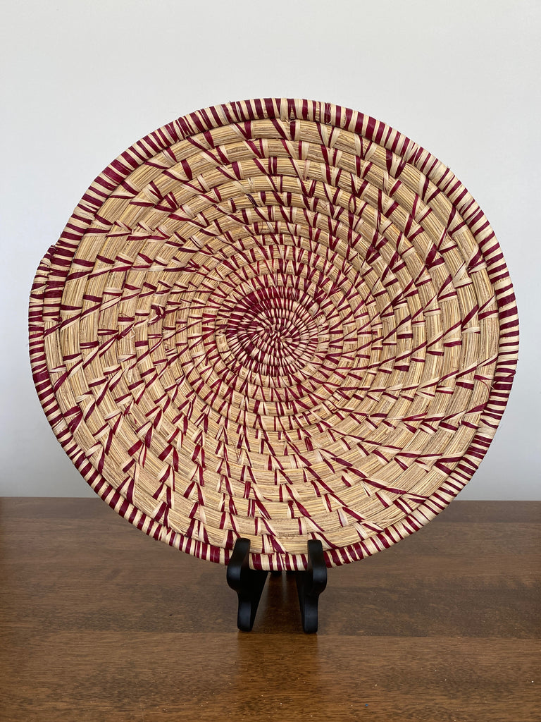 Disk Basket - Natural Weave 15""