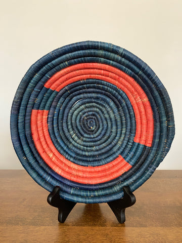 Disk Basket - Teal Salmon 10""