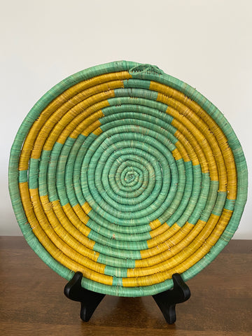 Disk Basket - Mint & Yellow 10""