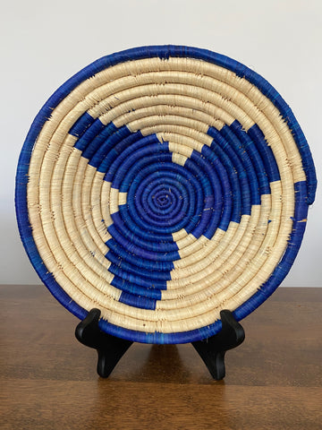 Disk Basket - Royal Blue Flower 10""