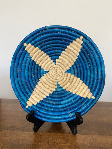 Disk Basket - Blue & Natural 10""