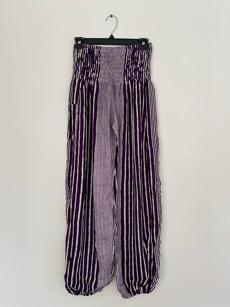 Purple & White Stripe - Large