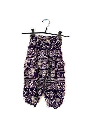 Purple With Elephants - Medium