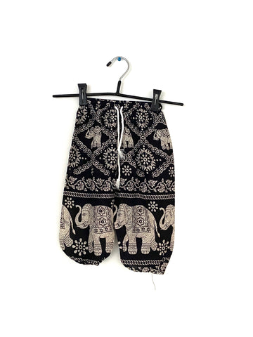 Black with Elephants - 2T-3