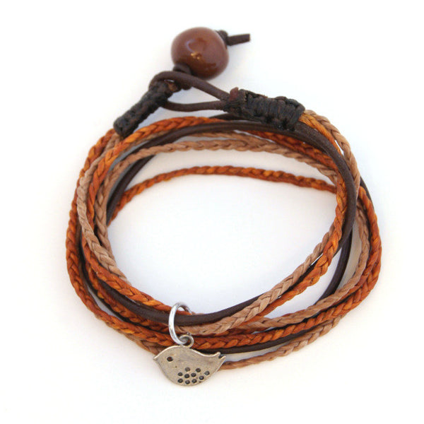 Triple Wrap Bracelet - Rust