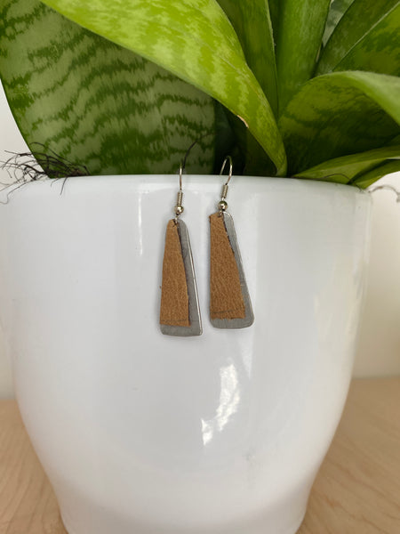 Leather/Aluminum Earrings