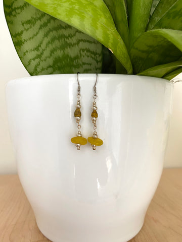 Lemon Dangle Earrings