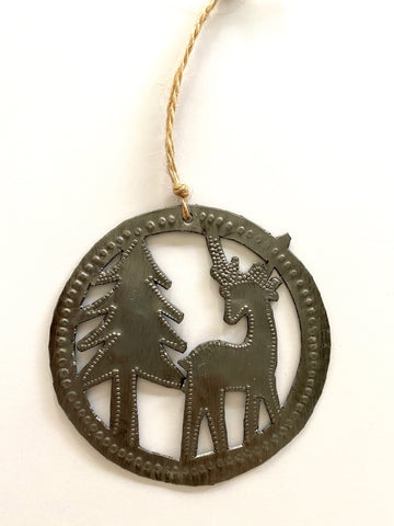 Deer & Tree Ornament