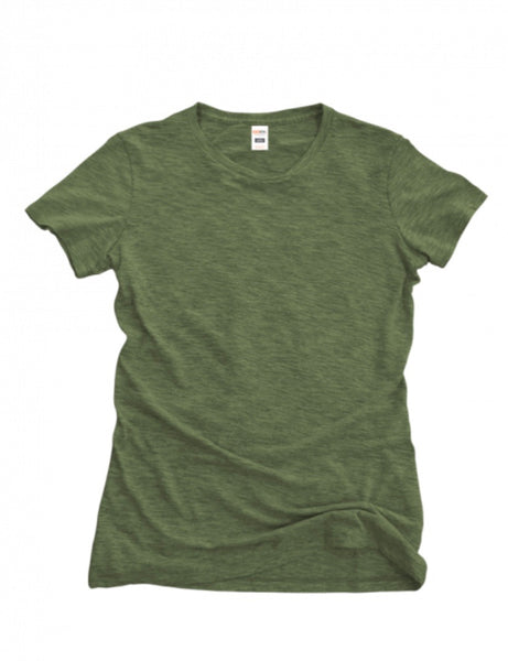 Ladies Short Sleeve Triblend Tee - Olive