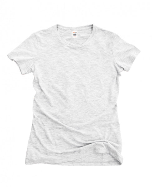 Ladies Short Sleeve Triblend Tee - Vintage White