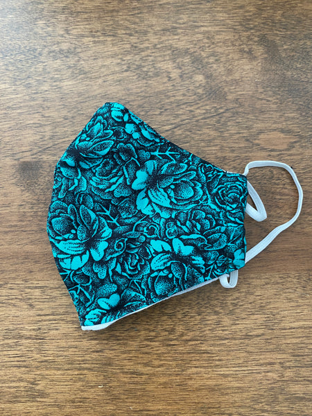 Kids - Black & Turquoise Floral