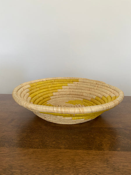 Disk Basket - Yellow swirl 10""