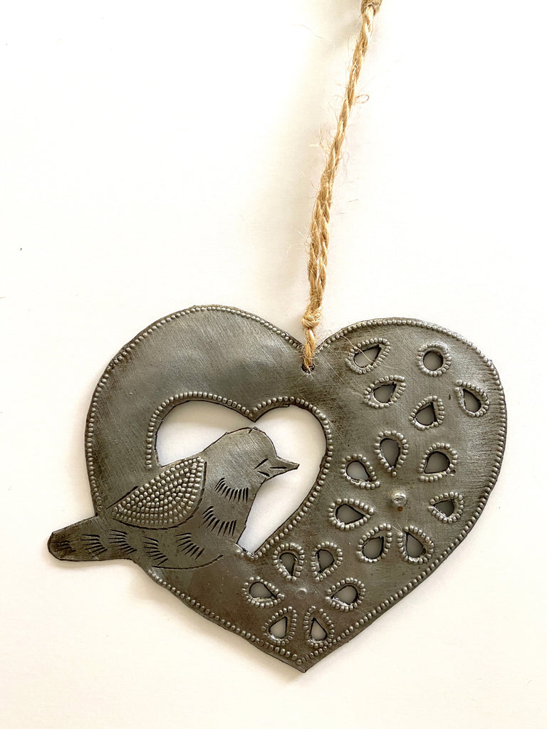 Heart & Bird Ornament
