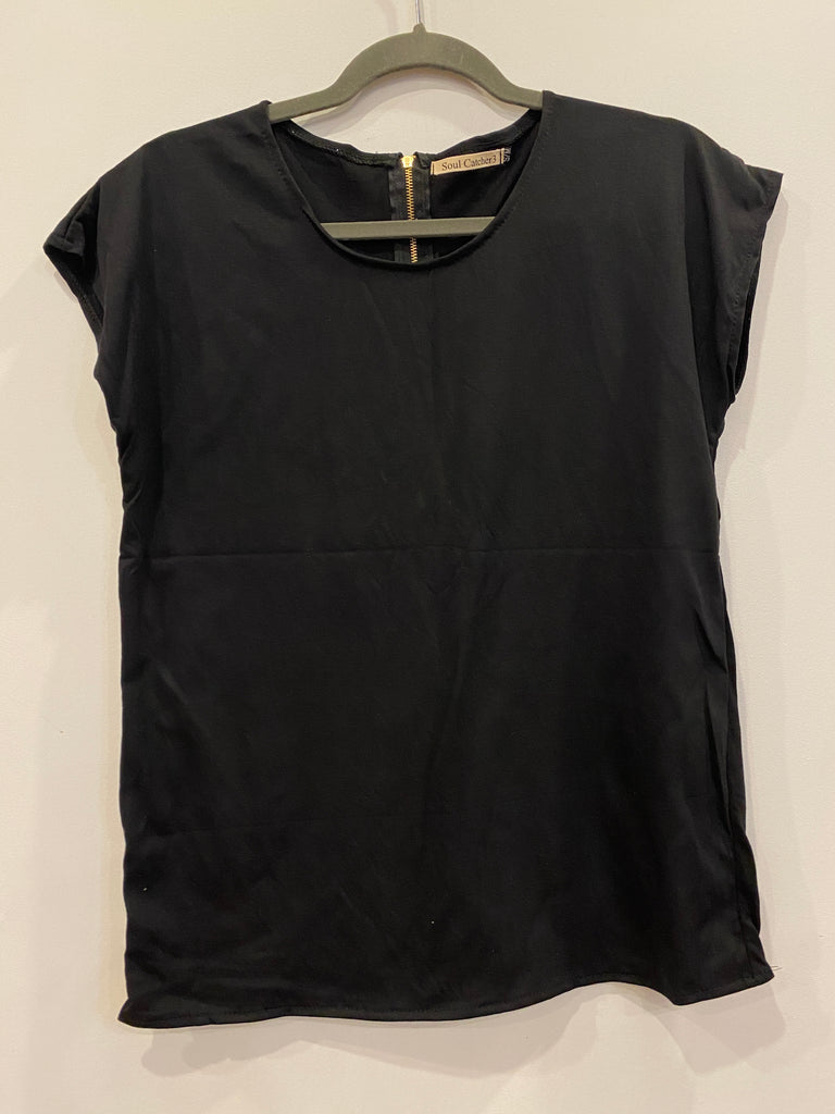 Ladies cap Sleeve Tee - Black