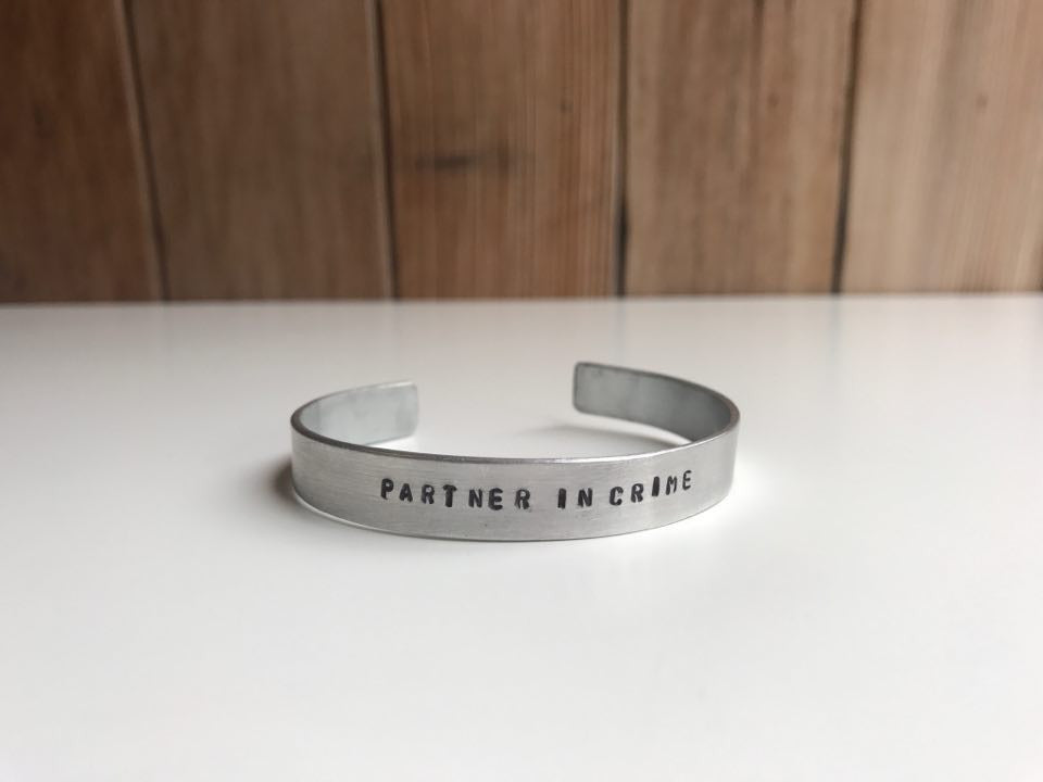 """Partner In Crime"" Cuff Bracelet"