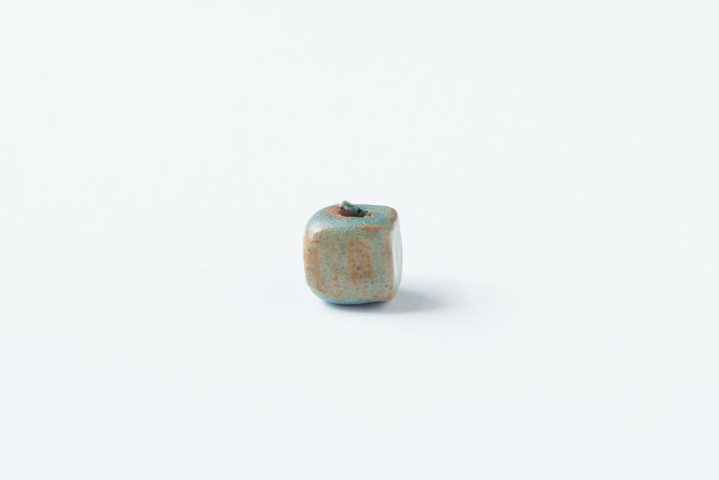 Old Copper Square Bead