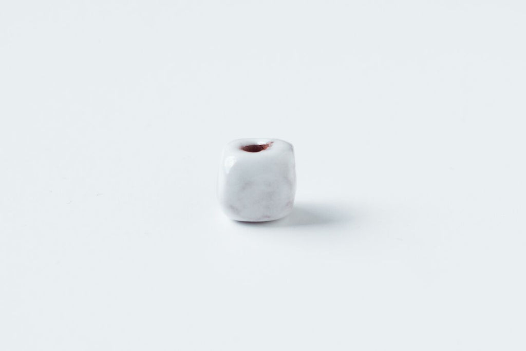 White Square Bead