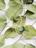 FULL CIRCLE Hoop Earrings in Emerald