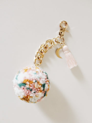 Pom Keychain - Wildflower Bouquet