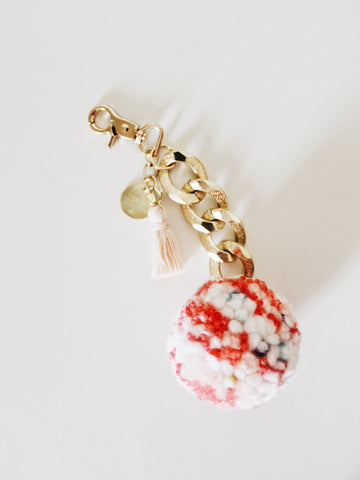 Pom Keychain - Pop Rocks