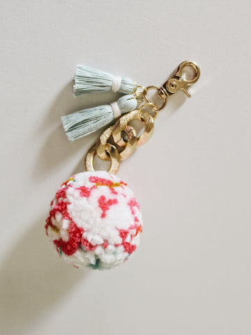 Pom Keychain - Funfetti Party