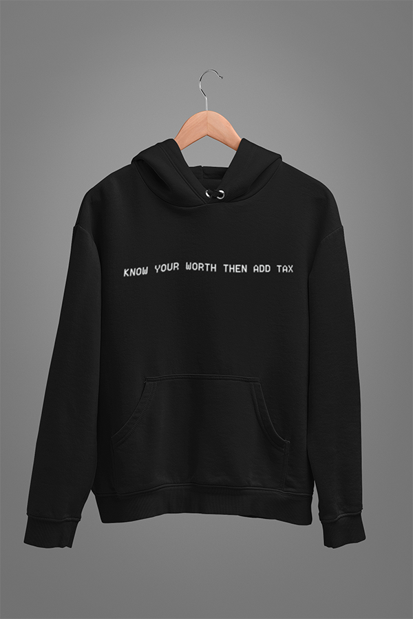 Know Your Worth Unisex Hoodies Black - The Atom Stores